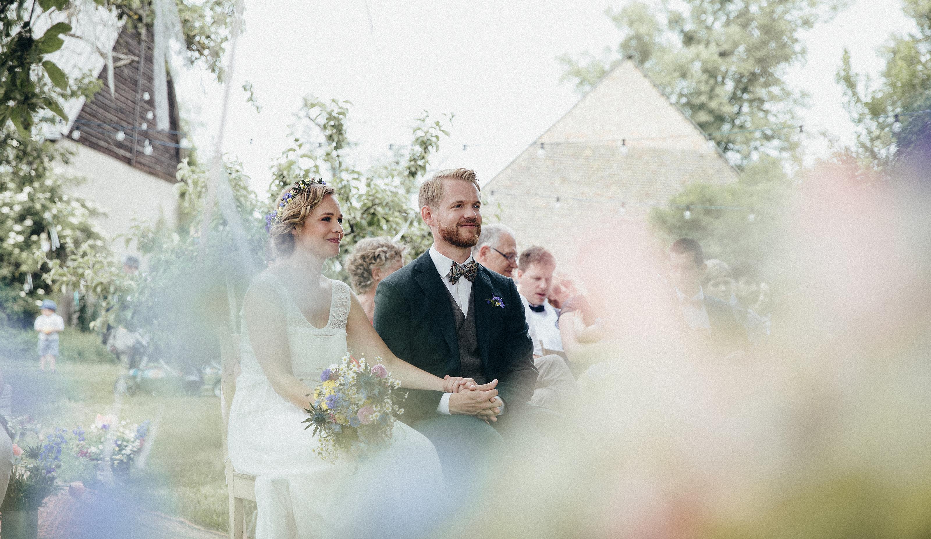 Marlene & Benni Trauung Hochzeitsfotos Schmetterlingsgarten , 2018