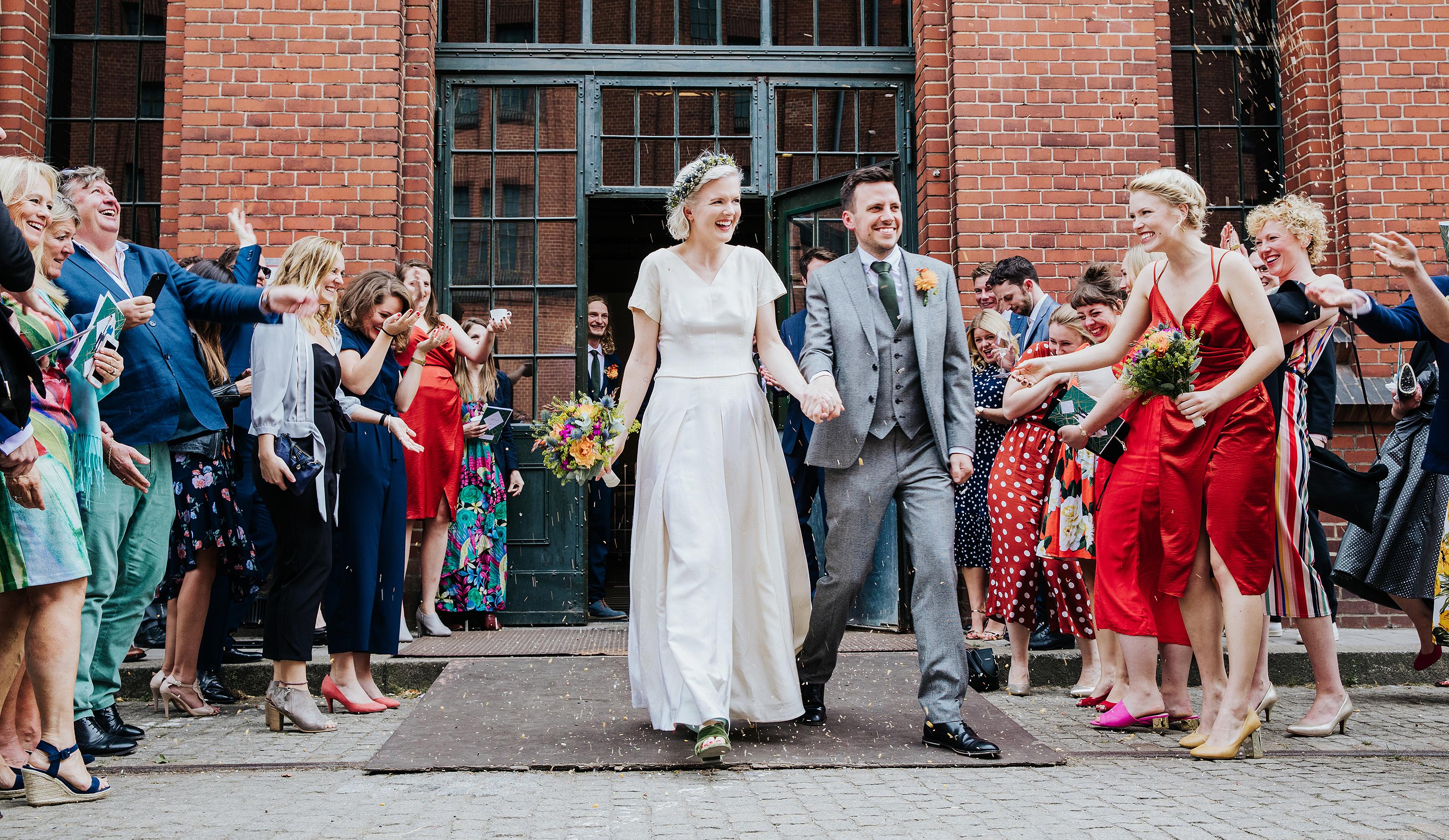 Hochzeitsreportage Melinda & Sam, Malzfabrik 2018